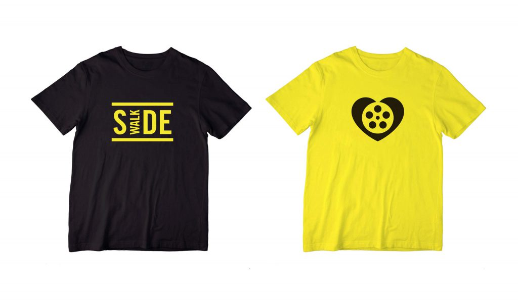 Black and yellow t shirts